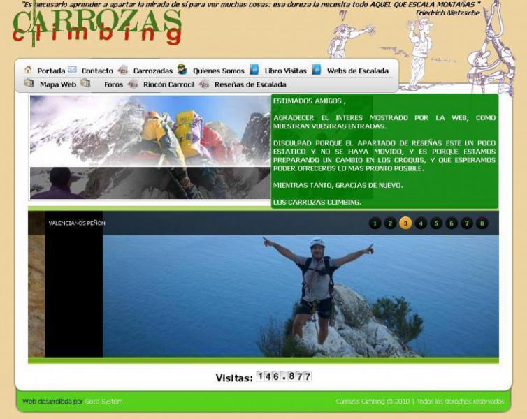 Desarrollo Web - Carrozas Climbing