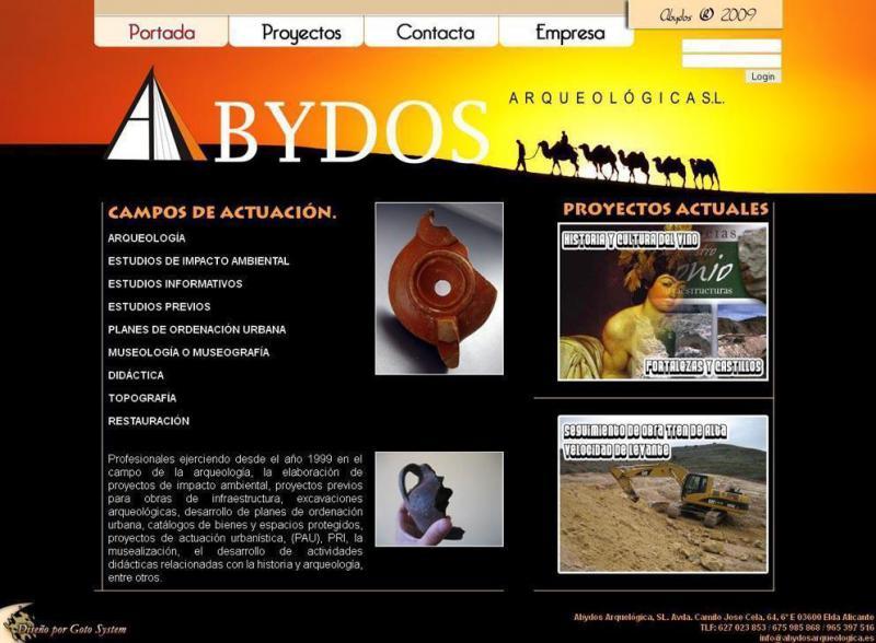 Desarrollo Web - Abydos Arqueologica